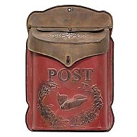 Distressed Red & Rust Post Mail Box