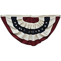 "American Flag Bunting - Natural Color - Large 55"" Wide"