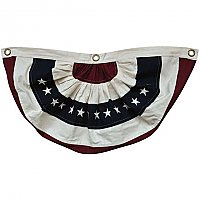 "American Flag Bunting - Natural Color - Small 30"" Wide"