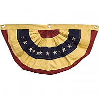 "American Flag Bunting - Antiqued - Small 30"" Wide"