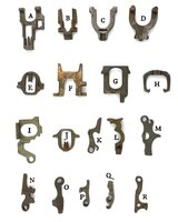 Unbranded Antique Mortise Lock Parts - Tumblers & Levers