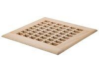 "White Oak Surface Air Return Wood Grille - 10"" x 26"" Inside"