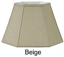 Fabric Lamp Shade, Hexagon, Beige