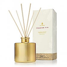 Thymes Frasier Fir Gilded Reed Diffuser - Petite Gold