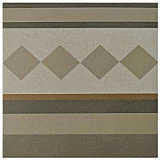 "Caprice Loire 7-7/8"" x 7-7/8"" Porcelain Border Tile - Beige/Cream - Per Piece - .43 Square Feet"
