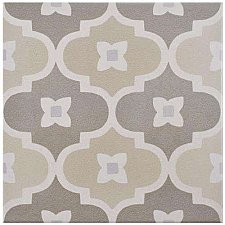 "Caprice Pastel Bowtie 7-7/8"" x7-7/8"" Porcelain Tile - Brown/Tan- Per Case of 25 - 11.46 Square Feet"