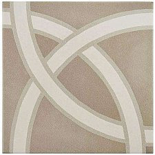 "Caprice Pastel Loop 7-7/8"" x 7-7/8"" Porcelain Tile - Beige/Cream- Per Case of 25 - 11.46 Square Feet"