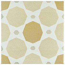"Caprice Pastel Topaz 7-7/8"" x 7-7/8"" PorcelainTile - Beige/Cream- Per Case of 25 - 11.46 Square Feet"