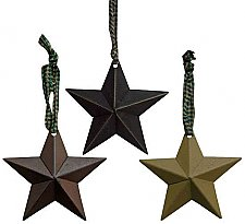 Tin Star Ornament - Choose from 3 Colors