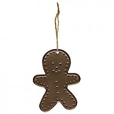 Punched Tin Gingerbread Man Ornament