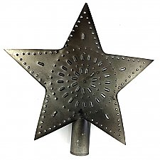 Punched Tin Star Tree Topper - Large