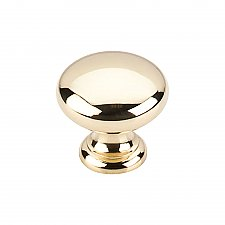 "Somerset Collection 1-1/4"" Mushroom Knob - Polished Brass"