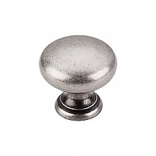 "Somerset Collection 1-1/4"" Mushroom Knob - Pewter Antique"