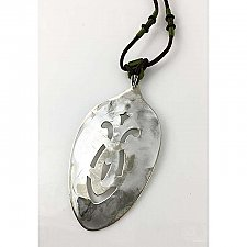 Repurposed Silverplate Serving Spoon Pendant