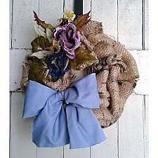 Repurposed Burlap Wreath
