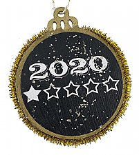 2020 - 1 Star Rating - Twas a Very Good Year Said Nobody Ever Holiday Ornament - Gold