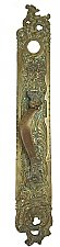 "Antique Cast Brass ""Belfort"" Design Store Door Pull Plate By Reading Hardware Co. - Circa 1897"