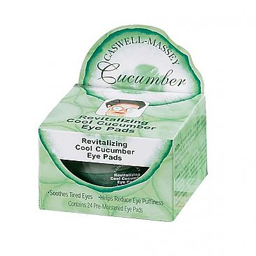 Caswell Massey Cucumber Eye Pads- Jar of 24