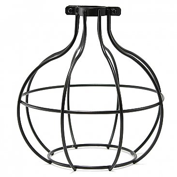 Industrial Light Bulb Cage - Large Sphere - Black