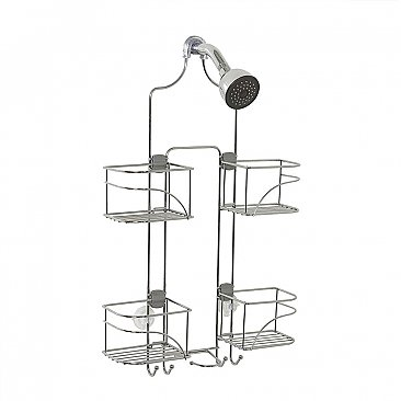 Zenna Home Expandable Over-the-Showerhead Caddy - Chrome