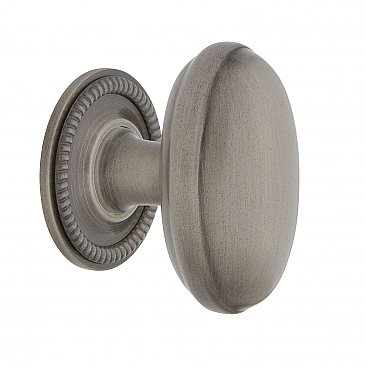 "Nostalgic Warehouse Homestead Brass 1-3/4"" Cabinet Knob with Rope Rose in Antique Pewter"