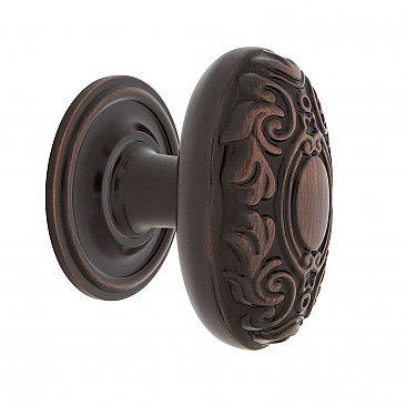 "Nostalgic Warehouse Victorian Brass 1-3/4"" Cabinet Knob with Classic Rose in Timeless Bronze"