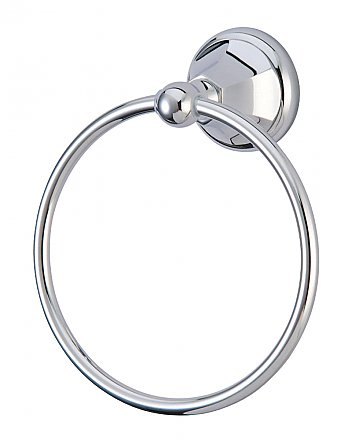 Metropolitan Collection Towel Ring - Polished Chrome