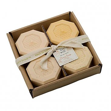 Simply Be Well Set of Four Honey Soaps