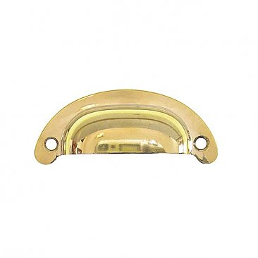 "Small Drawer or Bin Pull - Polished Brass - 2-1/2"" on Center"