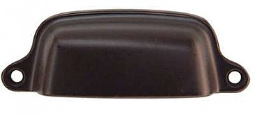 "Medium Drawer or Bin Pull - Oil Rubbed Bronze - 3"" on Center"