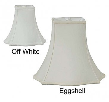 Fabric Lamp Shade, Square Out Scallop Bell Shade