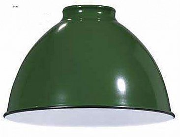Industrial Style Metal Dome Shade -Green -7-1/16""