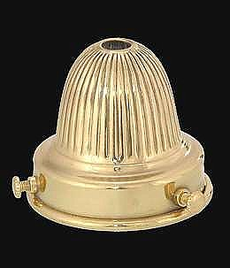 Reeded Brass Shade Holder