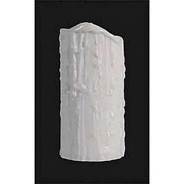 "Satin White Poly Resin Candle Cover - 6"" High"