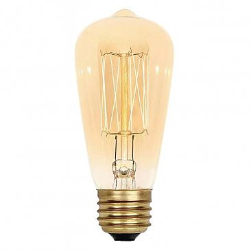 Incandescent Light Bulb: 40 Watt Timeless Vintage Inspired Amber Light Bulb