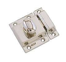 Large Cabinet Latch - Oval Knob - Polished Nickel