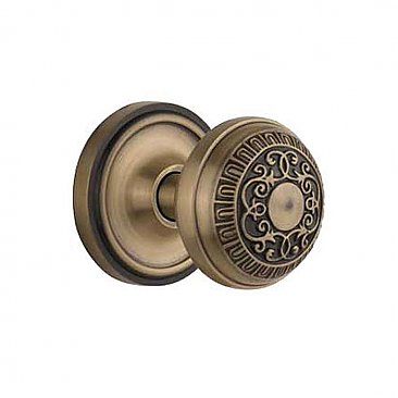 Complete Door Hardware Set - with Classic Rosette with Egg & Dart Knob
