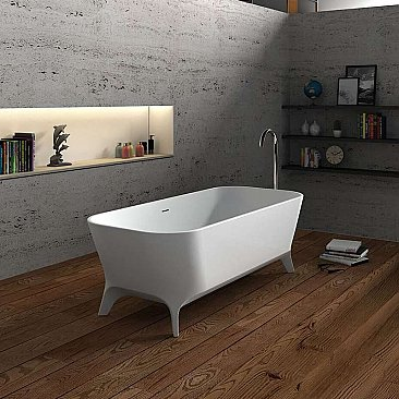 "Cheviot Palermo 70"" Solid Surface Freestanding Footed Bathtub"