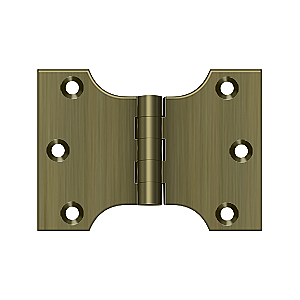 "Solid Brass Parliament Hinge Pair - 3"" x 4"""
