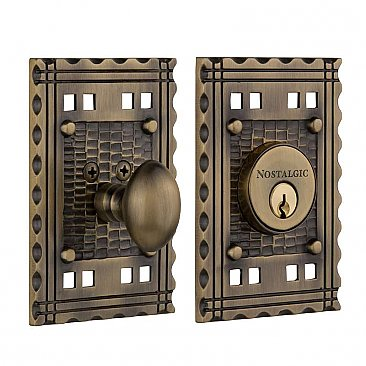 Nostalgic Warehouse Craftsmen Deadbolt Door Lock- Multiple Finishes Available