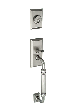 New York Complete Exterior and Interior Handleset With Deadbolt - Multiple Finish and Interior Knob Options - C Grip