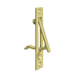 "Solid Brass Pocket or Sliding Door Edge Pull - 4"" - Multiple Finishes"