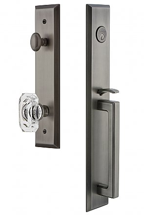 Grandeur Fifth Avenue Complete Exterior and Interior Handleset With Deadbolt - Multiple Finish and Interior Knob Options - D Grip