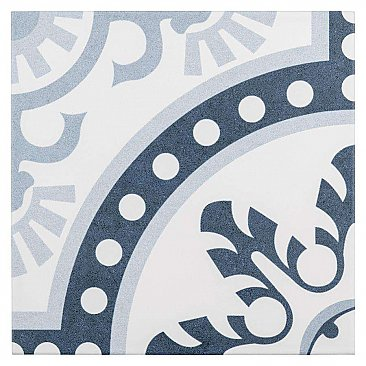 "Duart Arctic 9-3/4"" x 9-3/4"" Porcelain Tile - Blue & White - Per Case of 16 - 10.76 Square Feet"