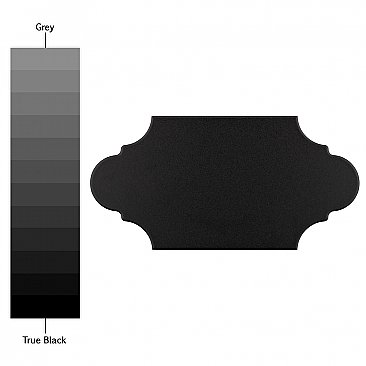"Textile Basic Provenzal Black Porcelain Tile - 6-3/8"" x 12-7/8"" - Sold Per Case of 20  - 9.43 Sq Ft Per Case"