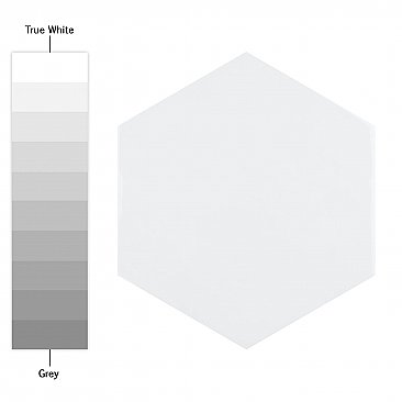 "Hexatile Glossy Blanco 7"" x 8"" Porcelain Wall Tile - Sold Per Case of 25 - 7.67 Square Feet"