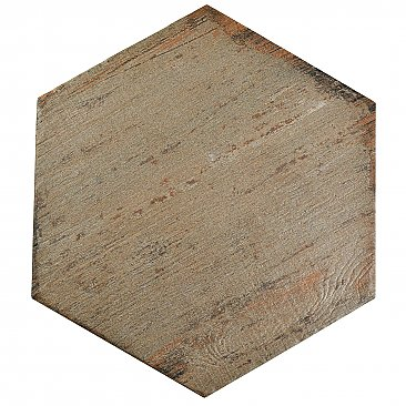 "Retro Hex Terra 14-1/8"" x 16-1/4"" Porcelain Tile - Sold Per Case of 9 - 11.05  Square Feet"