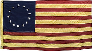 "Betsy Ross American Flag - Aged Finish - Large 58"" Wide"