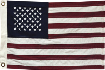 "American Flag - Natural Color - 28"" Wide"