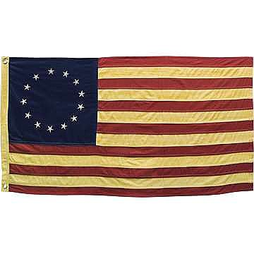 "Betsy Ross American Flag - Antiqued - Small 28"" Wide"